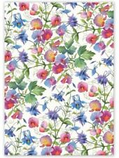 Michel Design Works Cotton Kitchen Tea Towel SWEET PEA Floral & Hanging Loop New