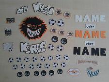 Deko für Schultüte, Fußballer, Fußball, Deko Fußballer, Junge, mit Name,43 Teile