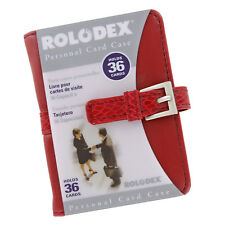 Rolodex Personal Business Card Case Holder, 36 Card Capacity, Red (68234)