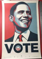 PRESIDENT BARACK OBAMA OFFICIAL CAMPAIGN POSTER VOTE PRINT OBEY GIANT ARTIST FOR