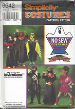 Simplicity Sewing Pattern Costume 8642 Dracula Monster Bat Ninja Kids Sm Med Lg