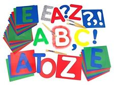 Stencil Major Brush Large Upper Case Alphabet Flexible Stencils Set of 27
