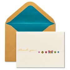 "Papyrus  greeting Card ""Thank you""  with a Butterfly made of gems"