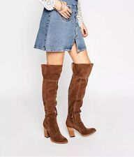 "$288 DOLCE VITA ""CLIFF"" OVER THE KNEE BOOT BROWN SIZE 8.5 OHANNA SILAS STYLE"