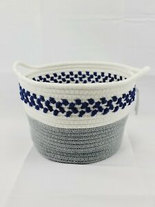 Woven Nested Basket Gray and Blue target