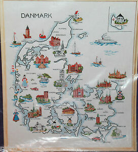 "Oehlenschlager Design Billede Danmark Denmark USED Pattern Only 23.5"" x 27.5"""