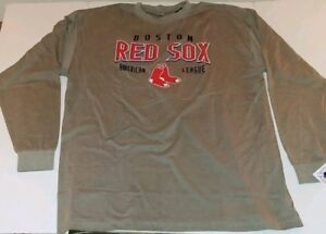 Boston Red Sox Officially Licensed Mens Plus Size Long Sleeve T-Shirt NWT 4XL