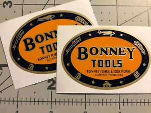 Bonney Tools Transportation Decals restore tool boxes vintage rat rod Set 2