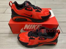 NIKE Air Max 200  AQ2568 600 Men's Sneakers Lifestyle shoes red black Size 8