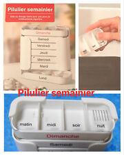 Boîte à médicament Pilulier semainier7 jous,4 compartimentsMatin,Midi,Soir,Nuit