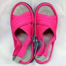 NEW Isotoner Women's MICROTERRY Slide Slippers with MEMORY FOAM - Size 6.5-7