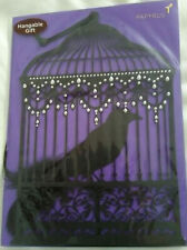 Papyrus Halloween Card Crow in Cage