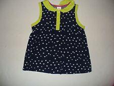 Gymboree Girls Bright Ideas Navy Diamond print woven top shirt Sleeveless Size 5