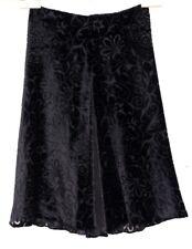 VGUC+ Brilliant ETRO Milano Women's Sz IT 42 US 8 Black Silk Blend Burnout Skirt