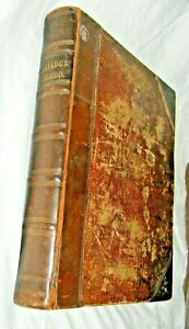 ANTIQUE LARGE RARE WELSH  BIBLE DICTIONARY LEATHER BOUND WILLIAM MACKENZIE