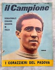 RIVISTA IL CAMPIONE NUMERO 2 1958 PADOVA COMO PRATO MESSINA SPAL VINTAGE CALCIO