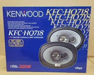"Kenwood KFC-HQ718 3-Way 320 Watt 7x10"" Car Speakers Brand New"