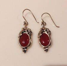 Sterling Silver Vintage  Brown Stone Earring