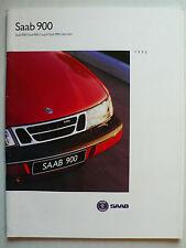 Prospekt Saab 900 / Coupe / Cabriolet  Modell 1995, 1994, 66 Seiten
