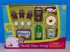 Tyco Kitchen Littles SNACK TIME PARTY Cookies Donuts Cheesecake Ice Cream Food
