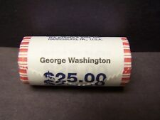 "2007 George Washington  ""Unopened"" Bank Wrapped Dollar 25 Coin ROLL"