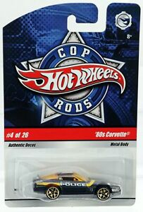 Hot Wheels '80s Corvette Cop Rods #N8996 Never Removed from Pack 2008 Brown 1:64