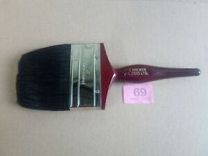 """Vintage NOS 4"""" pure bristles paint brush C BREWER & SONS LTD ALBANY COLLECTABLE"""