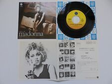 """MADONNA - LOVE DON'T LIVE HERE ANYMORE - JAPANESE 7"""" - RARE PIC SLEEVE + FANCLUB"""