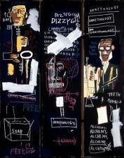 "Jean Michel Basquiat Horn Players  Canvas 24""x18"""