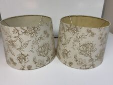 Cream & Gold Set Of 2 Floral Lampshades
