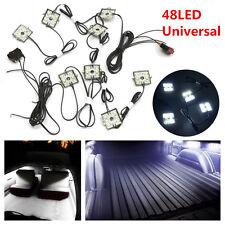 Universal DC 12V 8Pcs 48LED Car Truck White Neon LED Lighting Light Kit & Switch