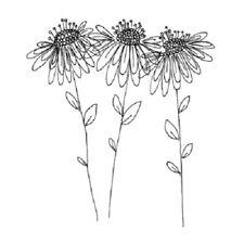 PENNY BLACK RUBBER STAMPS GARDEN POEMS FLOWER NEW wood STAMP
