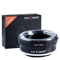 Lens Mount Adapter for Minolta MD MC Lens to Sony NEX E Mount A7 A7R K&F Concept