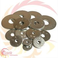 M8 x 25mm 30mm 40mm OD PENNY REPAIR WASHERS A4 Stainless Steel Marine - Mudguard