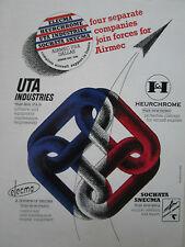 3/1980 PUB SNECMA SOCHATA ELECMA HEURCHROME UTA INDUSTRIES AIRMEC DALLAS AD