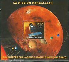 CENTRAL AFRICA 2014 INDIAN SPACE AGENCY MISSION  MANGALYAAN  S/S  MINT NH