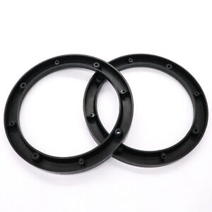 "2PCS Black 4"" Car Stereo Audio Speaker Mounting Spacer Rings"