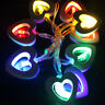 1.2m 10LED String Fairy Lights Lamp Heart Wooden Xmas Christmas Party Warm White