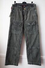 PANTALON coton velours VERT délavé NEUF étiqueté Made in Italy RA-Ré 12ans (gd)