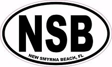 NSB New Smyrna Beach FL, Florida vinyl sticker decal 5x3