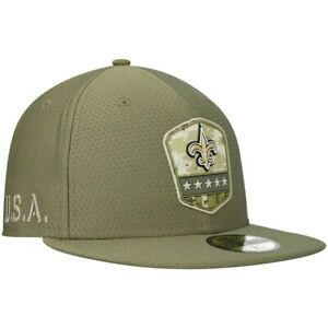 NEW ORLEANS SAINTS NEW ERA 59FIFTY SALUTE TO SERVICE NFL FOOTBALL FITTED CAP