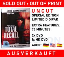 Schwarzenegger total recall Limited digipak Uncut Special Edition 3 disc HD DVD