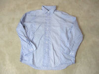 Nat Nast Button Up Long Sleeve Shirt Size Adult Extra Large Blue Paisley Mens *