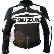 NUOVO SUZUKI GSX MOTOCICLETTA MOTOCICLISTA RACING VERA marrone pelle giacca
