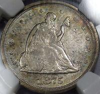 1875-S U.S. Twenty Cent Piece NGC Choice AU-55   Flashy, Original, & Super NICE!