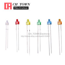 300Pcs 6Lights 2mm Round Top Diffused LED Diodes White Red Blue Green Mix Kits