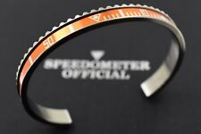 Speedometer Official Silver Steel with Orange Insert Bangle Bracelet