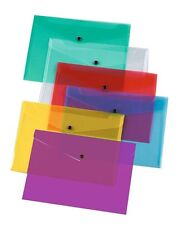Folder For Paperwork Pack 12 A4 Colour Plastic File Document Wallet Organiser