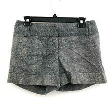 Express women's 6 shorts cuffed stretch crosshatch pockets black white
