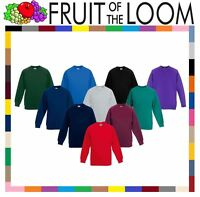 Fruit of the Loom Childrens Classic Raglan Sweatshirt Kids Round Neck School TOP